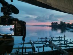 Filming in Guiuan for UN-Habitat