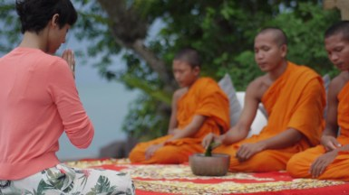 Host of Luxe Asia, Anita Kapoor, on location in Cambodia