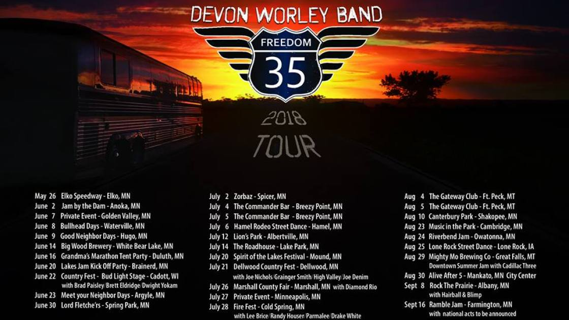 Devon Worley, Devon Worley Band, Freedom 35, Freedom 35 tour,