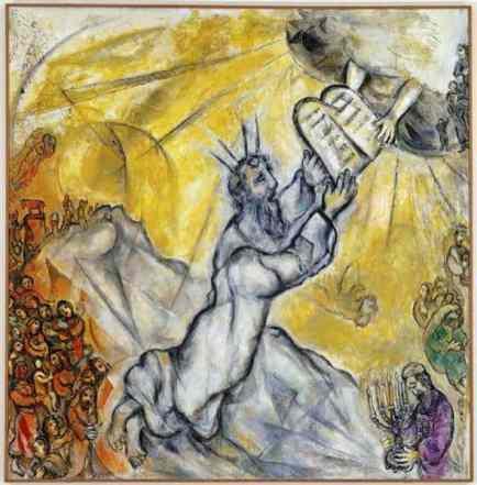 Matan Torah by Marc Chagall
