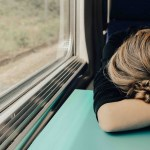 sleeping on train