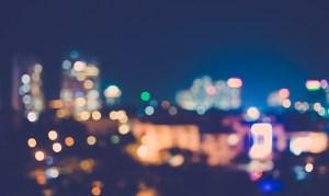 blurry city scape