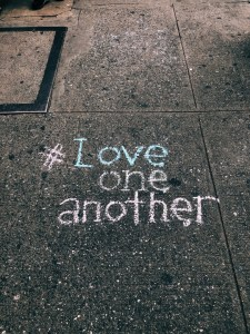 love one another in chalk