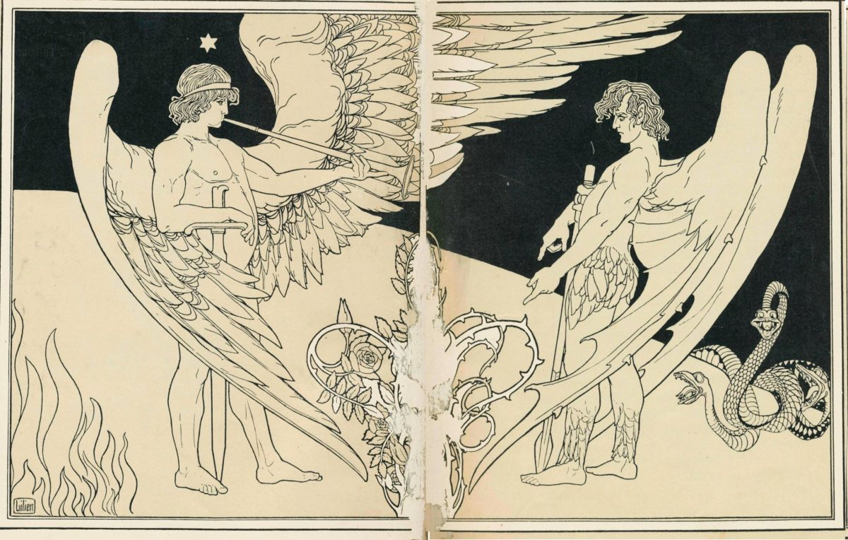 Two Angels by Ephraim Moshe Lilien