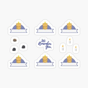 Yahrzeit Memorial Stickers for Planners: https://www.redbubble.com/shop/ap/41271182