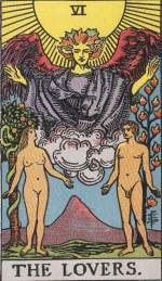 Tarot - The Lovers - Smith Waite Tarot