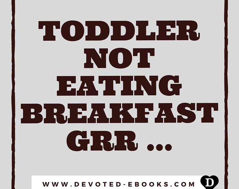 toddler not eating breakfast