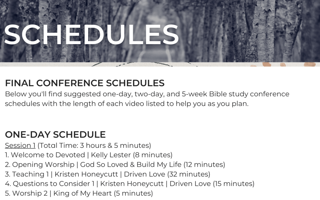 2021 Final Schedules