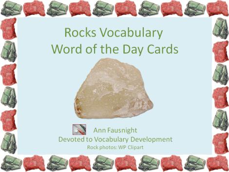 Rock Vocabulary