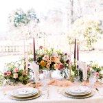 wedding sweetheart table with flowers -Cairnwood Estate Wedding Shoot