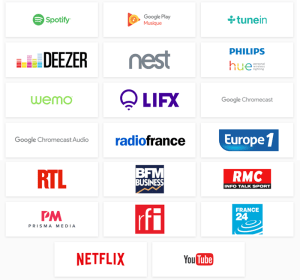 Partenaires Google Home