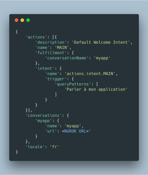 Template action.json