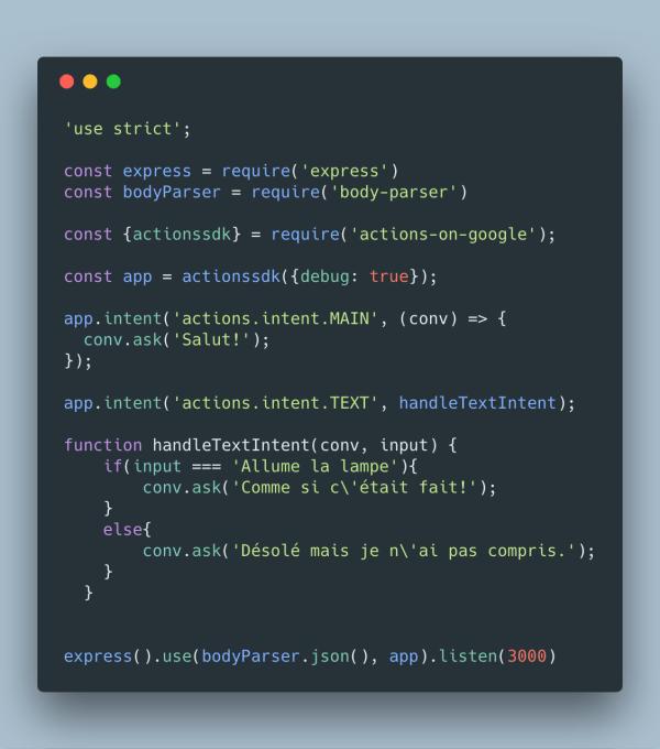 Exemple de code NodeJS - voir sur gitHub