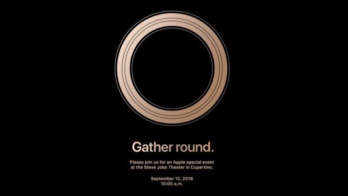 Keynote d'Apple le 12 Septembre 2018