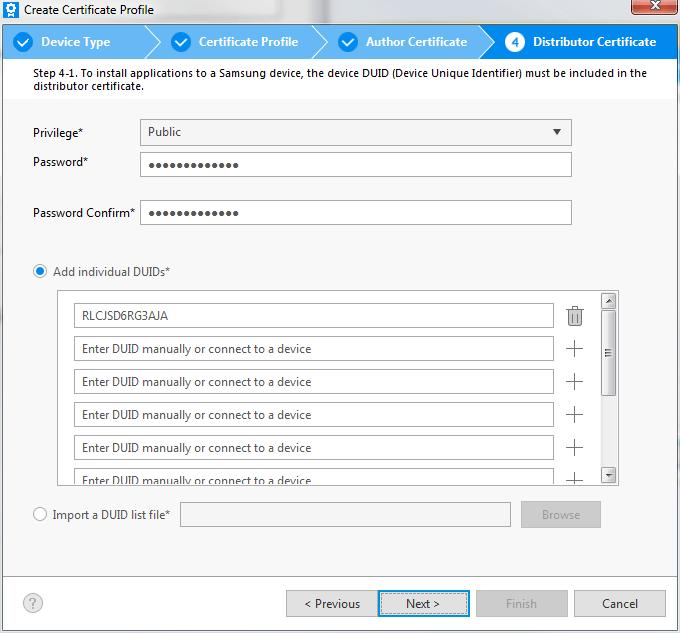 Configuration du certificat de distributeur