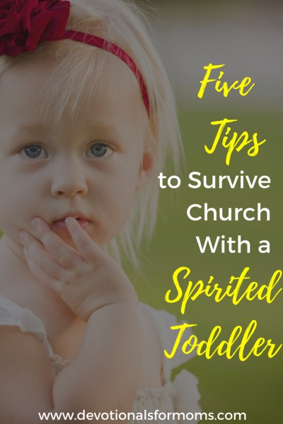 church with a toddler