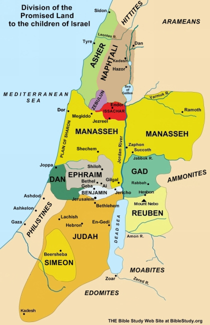 division-of-promised-land-to-ancient-israel