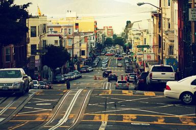 http://commons.wikimedia.org/wiki/File:Powell_Street,_San_Francisco.jpg