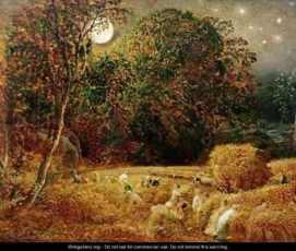 Harvest Moon - Samuel Palmer - www.wikigallery.com -Public Domain