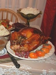 http://commons.wikimedia.org/wiki/File:Our_(Almost_Traditional)_Thanksgiving_Dinner.jpg