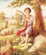 David Playing Harp - www.thebiblerevival.com - US Public Domain
