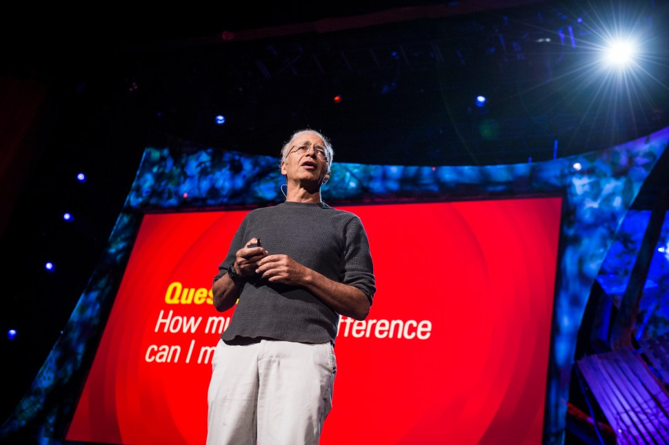 Peter Singer, philosopher and ethicist, speaking at TED2013 in California.