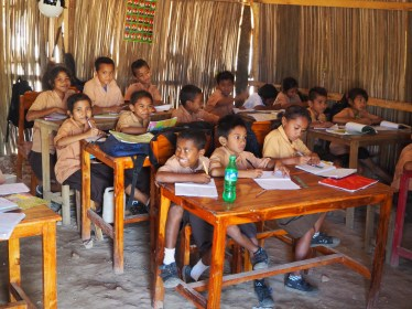 A West Timor school provided with furniture by NTA.