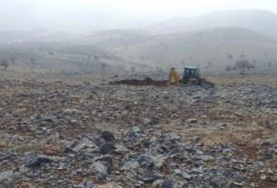 Dersim Ekirek köyünde ruhsatsız maden arama çalışması başlatıldı