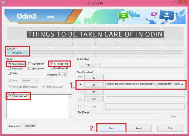 How to Setup Odin Tool to start flashing