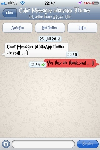 Isbf97 theme : Color Messages WhatsApp Theme (1/5)