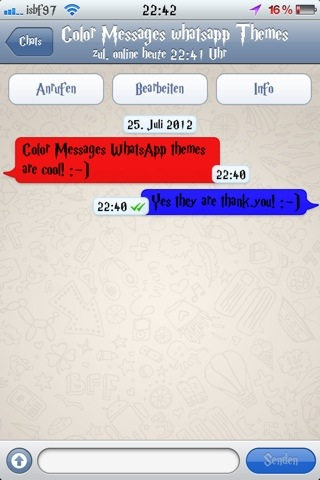Isbf97 theme : Color Messages WhatsApp Theme (4/5)