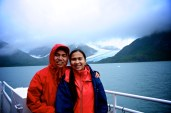 dev and I at the portage glacier