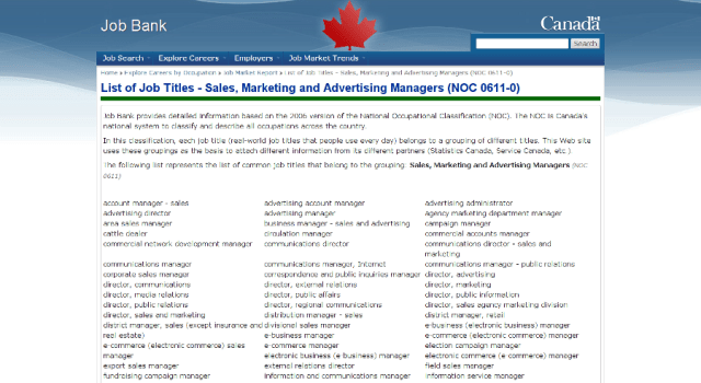 Good luck figuring out the job descriptions