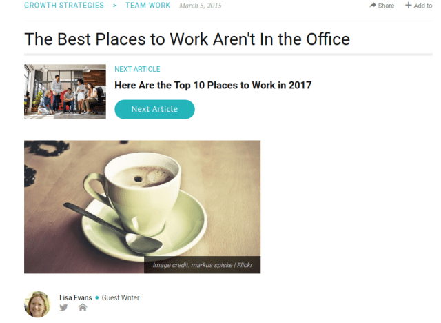 The Best Places to Work Aren't In the Office