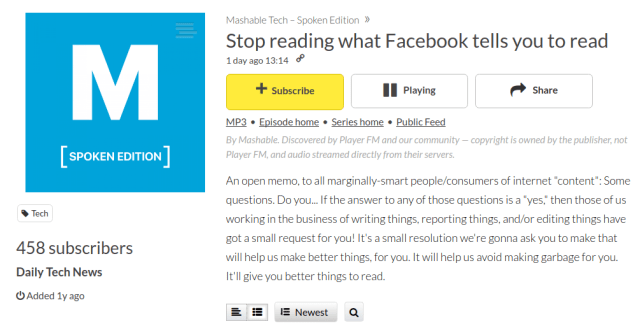 Stop Reading What Facebook Tells You To Read