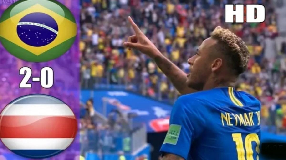 Neymar Menangis Atas kemenangan Brazil Saat Melawan Kosta Rika, Skor 2-0