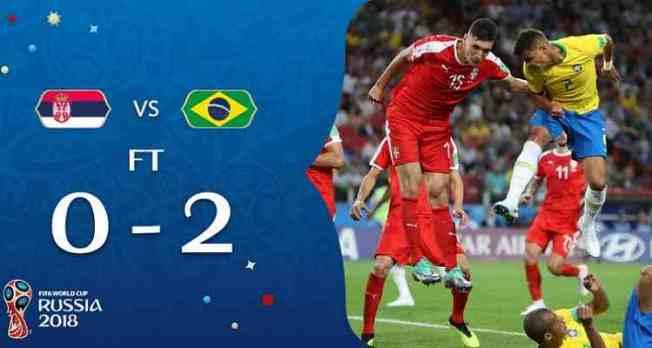 Hasil Serbia vs Brasil di Piala Dunia 2018