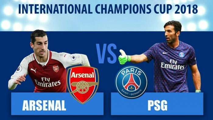Hasil Turnamen ICC : Arsenal vs PSG, Skor 5-1