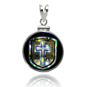 Cross in the Shield NanoBible Classic Pendant