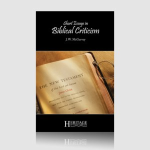 Short Essays in Biblical Criticism