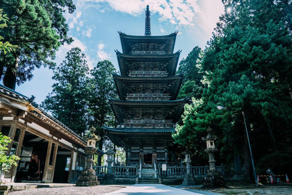 Zenpoji Temple Monastery near Yutagawa in Tsuruoka