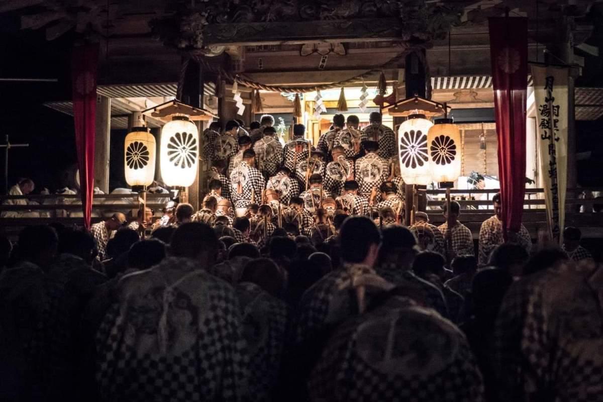 Yamabushi at Prince Hachiko Shrine during the Hassaku Festival on Mt. Haguro of the Dewa Sanzan