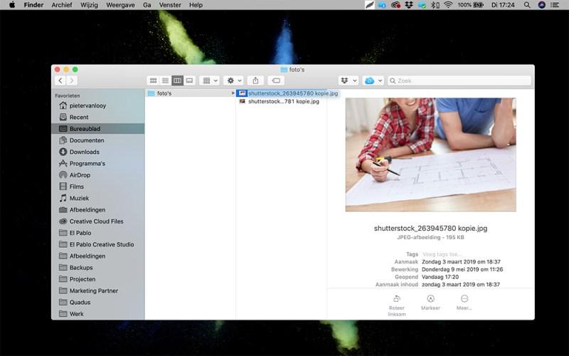 Hoe maak ik foto's webklaar voorbeeld 1