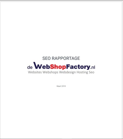 6 SEO Opmaat rapportage