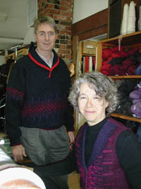 Jan de Graaf and Hilda de Weever in the studio in Aylesford, Nova Scotia