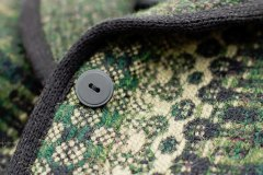 Green Heather jacket -- detail