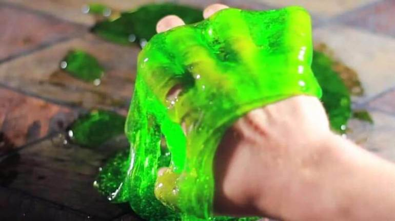 cara membuat slime menggunakan tepung