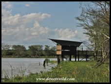 One of the bird-viewing hides at Nsumo