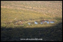 Tlopi Tented Camp in its waterside setting