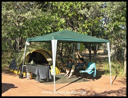 Our camping setup at Bontle, Marakele National Park - April 2016
